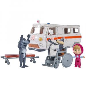 Masina Simba Masha and the Bear Ambulance cu accesorii1