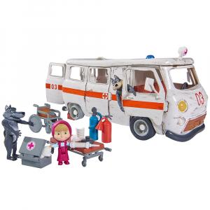 Masina Simba Masha and the Bear Ambulance cu accesorii0