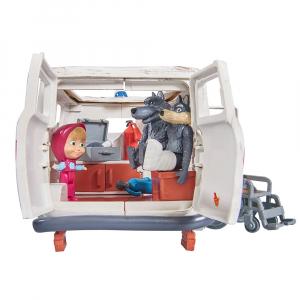 Masina Simba Masha and the Bear Ambulance cu accesorii3