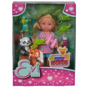 Papusa Simba Evi Love 12 cm Baby Safari cu figurine si accesorii [4]