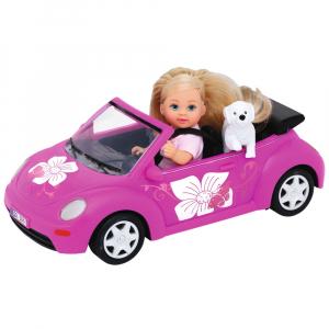 Papusa Simba Evi Love 12 cm Evi's Beetle cu masina, catelus si accesorii [0]