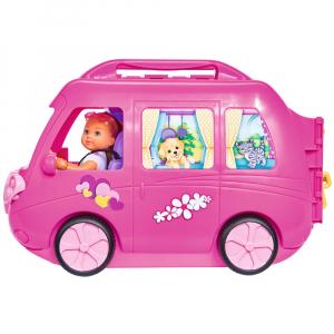 Papusa Simba Evi Love 12 cm Holiday Camper cu rulota si accesorii2