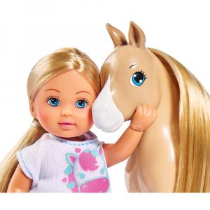 Papusa Simba Evi Love 12 cm Holiday Horse cu calut si accesorii2