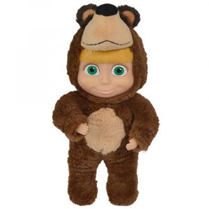 Papusa Simba Masha and the Bear 2 in 1 Masha 25 cm in costum de urs0