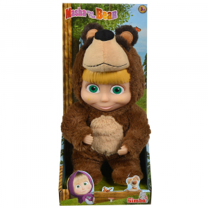 Papusa Simba Masha and the Bear 2 in 1 Masha 25 cm in costum de urs3