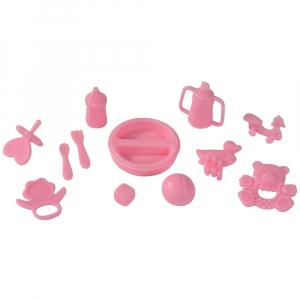 Papusa Simba Steffi Love Baby Walk 29 cm roz cu carucior si accesorii1