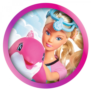 Papusa Simba Steffi Love Dolphin Fun 29 cm cu delfin si accesorii [1]