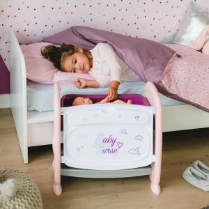 Patut Co-Sleeper pentru papusi Smoby Baby Nurse 2 in 16