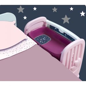 Patut Co-Sleeper pentru papusi Smoby Baby Nurse 2 in 15