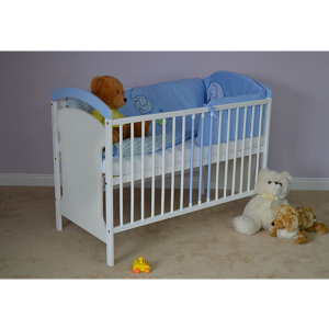 Patut copii din lemn Hubners Anita 120x60 cm alb-albastru2