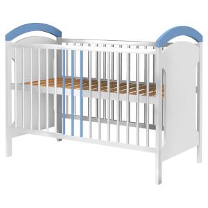 Patut copii din lemn Hubners Anita 120x60 cm alb-albastru0