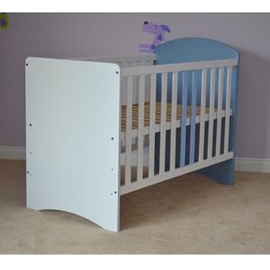 Patut copii din lemn Hubners Anne 120x60 cm alb-albastru1