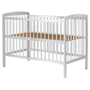 Patut copii din lemn Hubners Anzel 120x60 cm alb0