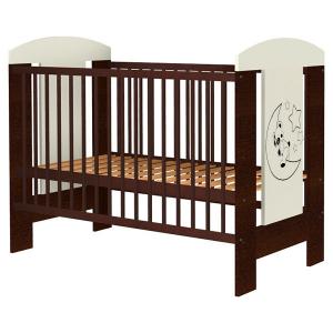 Patut copii din lemn Hubners Carolin Ursulet 120x60 cm venghe [0]
