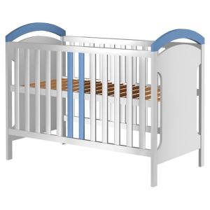 Patut copii din lemn Hubners Hansell 120x60 cm alb-albastru0