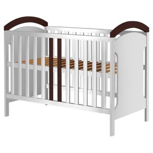 Patut copii din lemn Hubners Hansell 120x60 cm alb-venghe0