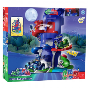 Pista de masini Dickie Toys Eroi in Pijama Team Headquarter cu 1 masinuta si 1 figurina2