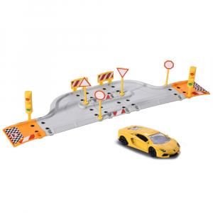 Pista de masini Majorette Creatix Starter Pack cu 1 masinuta Lamborghini0