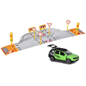 Pista de masini Majorette Creatix Street Set cu 1 Masinuta Dacia Duster0