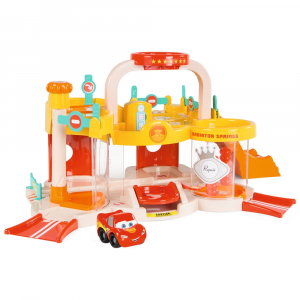 Pista de masini Smoby Vroom Planet Garage cu masinuta Cars0