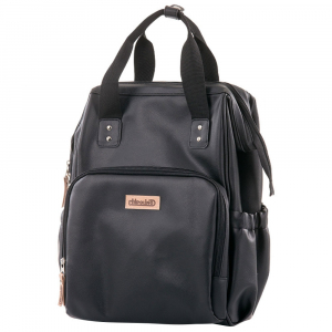Rucsac si gentuta de infasat Chipolino black leather1