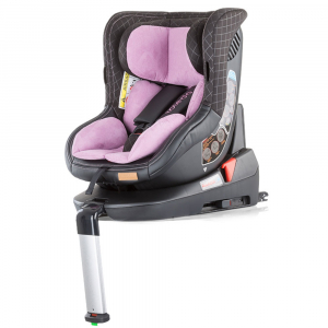 Scaun auto Chipolino Toledo 0-18 kg rose cu sistem Isofix si sezut rotativ1