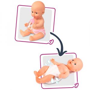 Set cadita si accesorii pentru papusi Smoby Baby Nurse Nursery mov [2]