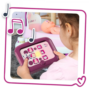 Set cadita si accesorii pentru papusi Smoby Baby Nurse Nursery mov [4]