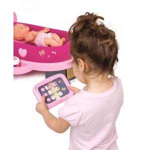 Set cadita si accesorii pentru papusi Smoby Baby Nurse Nursery roz [6]