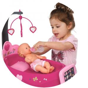 Set cadita si accesorii pentru papusi Smoby Baby Nurse Nursery roz [5]