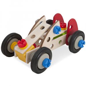 Set constructie din lemn Eichhorn Constructor Racer 50 piese0