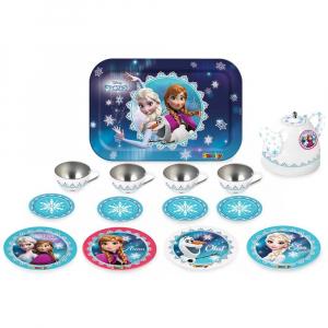 Set de servit ceaiul din metal Smoby Frozen cu 14 accesorii1