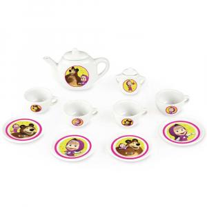 Set de servit ceaiul din portelan Smoby Masha and The Bear [0]