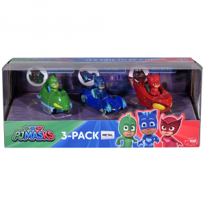 Set Dickie Toys 3 Masinute Eroi in Pijama cu 3 figurine1