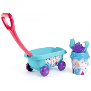 Set jucarii nisip Smoby Carucior Frozen cu accesorii0