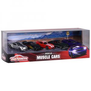 Set Majorette 5 masinute Muscle Cars6