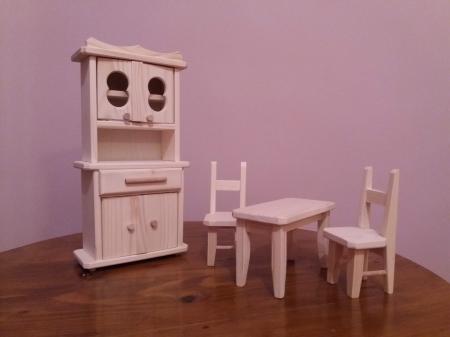 Set mobilier bucatarie din lemn natur pentru papusi1