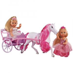 Set Simba Evi Love Romantic Carriage cu 2 papusi 12 cm si caleasca [0]