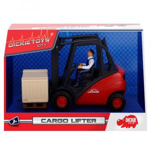 Stivuitor Dickie Toys Cargo Lifter cu accesorii8