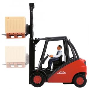 Stivuitor Dickie Toys Cargo Lifter cu accesorii5