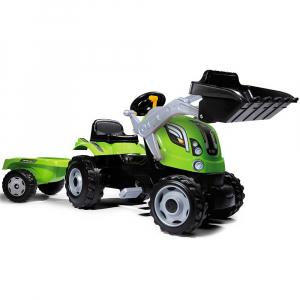 Tractor cu pedale si remorca Smoby Farmer Max verde0