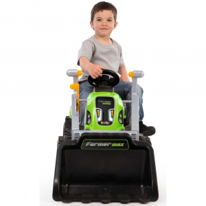 Tractor cu pedale si remorca Smoby Farmer Max verde3