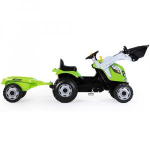 Tractor cu pedale si remorca Smoby Farmer Max verde1