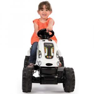 Tractor cu pedale si remorca Smoby Farmer XL alb negru [6]