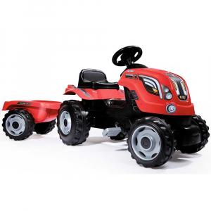 Tractor cu pedale si remorca Smoby Farmer XL rosu [0]