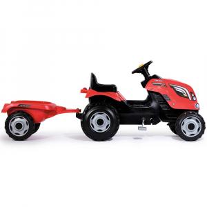 Tractor cu pedale si remorca Smoby Farmer XL rosu [3]
