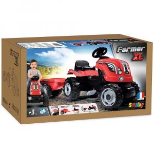 Tractor cu pedale si remorca Smoby Farmer XL rosu [7]
