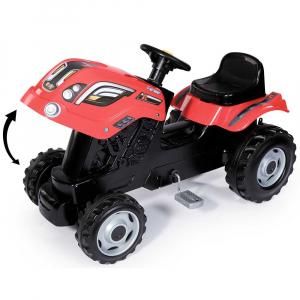 Tractor cu pedale si remorca Smoby Farmer XL rosu [2]