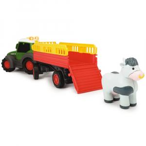 Tractor Dickie Toys Happy Fendt Animal Trailer cu remorca si figurina4