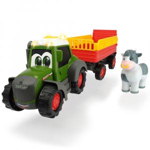 Tractor Dickie Toys Happy Fendt Animal Trailer cu remorca si figurina0
